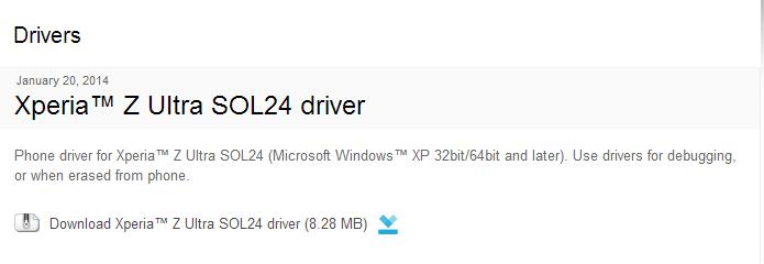 Xperia- Z Ultra SOL24 driver - Developer World