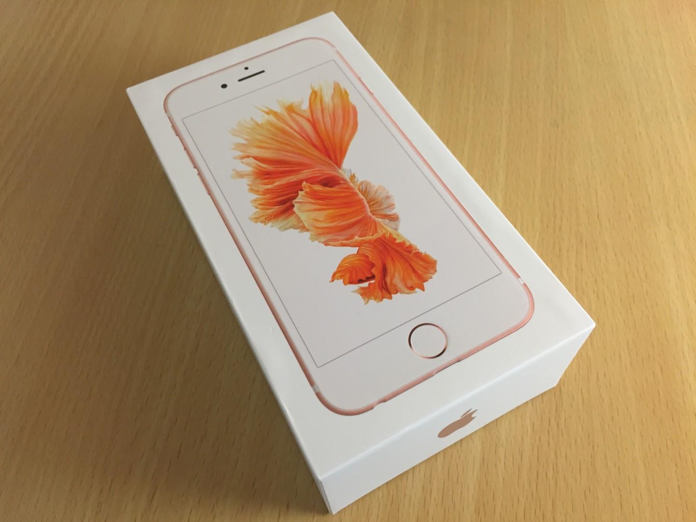 「iPhone 6s」の化粧箱